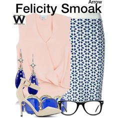 Inspired by Emily Bett Rickards as Felicity Smoak on Arrow. Nerd Fashion, Star Fashion, Fashion Outfits, Fashion Women, Tv Show Outfits, Fandom Outfits, Classy Outfits, Cute Outfits, Girly Outfits