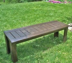 Simple Outdoor Bench DIY #anawhite