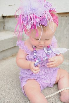 Darling baby/little girl hair bow and outfit