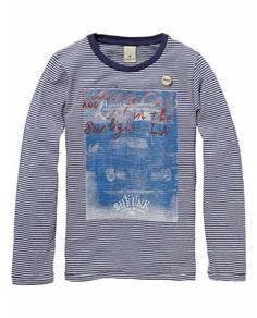 Long-Sleeved Crew Neck Tee > Kids Clothing > Boys T-shirts at Amsterdams Blauw - Official Scotch & Soda Online Fashion & Apparel Shops