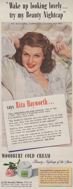 Rita Hayworth for Woodbury cold cream, 1943