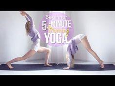 5-Minute Morning Yoga // Beginner - YouTube