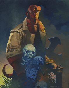 Hellboy oils by ChristopherStevens.deviantart.com on @deviantART