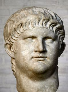 Emperor Nero, head of (colossal) Roman statue (marble), century AD, (Glyptothek, Munich). Ancient Rome, Ancient Art, Ancient History, Rome Antique, Art Antique, Roman Sculpture, Sculpture Art, Sculpture Romaine, The Great Fire