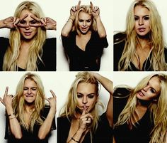 the many faces of Lindsay Lohan