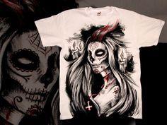Santa Muerte II T Shirt by MrtnLjmn.deviantart.com on @deviantART