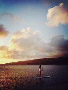 Aubrey Road's life in Hawaii...reminiscent of Maxfield Parish    #Paddleboardshop #paddleboard #paddleboarding