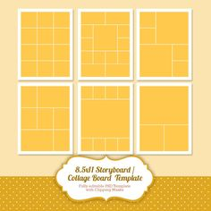 Instant Download Storyboard Photoshop Templates Por Popuridesign