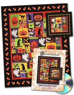 Halloween Fun Pattern by Lunch Box Quilts : This looks like a great Halloween project!