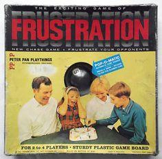 Vintage-FRUSTRATION-POP-O-MATIC-BOARD-GAME-Peter-Pan-1965-Complete