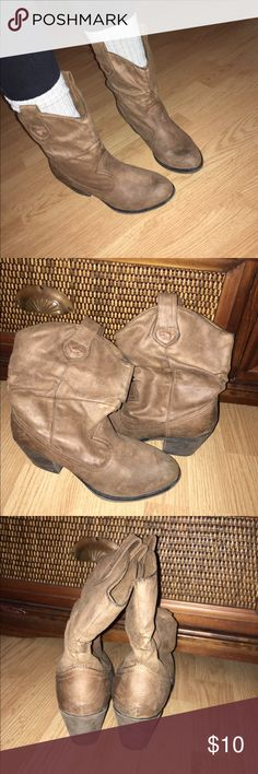 Rocket dog cowboy booties Rocket dog cowboy booties. Have some obvious marks but very comfy and still have a lot of life in them Rocket Dog Shoes Ankle Boots & Booties