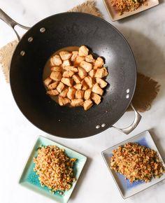 """Dude Diet Hibachi Chicken with """"Un-Fried"""" Rice"""