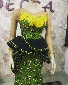2019 Ankara Skirt And blouse: 50 most Fashionable and Trendy Ankara skirt and blouse styles To Try out