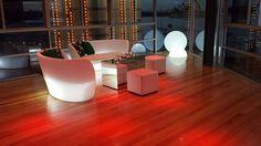 Slide lampa Globo; element dekoracyjny podświetlany Cubo