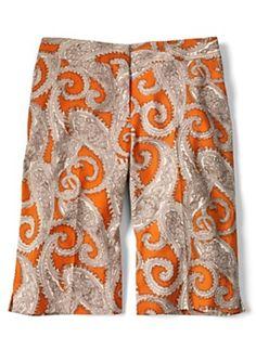 Orange you glad . . . we made our bold paisley short?
