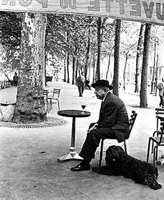 Robert Doisneau, Prévert, Paris 1955