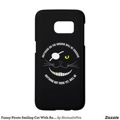 Funny Pirate Smiling Cat With An Eye Patch Samsung Galaxy S7 Case