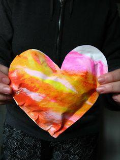 scrumdilly-do!: Repurposed Art: Puffy Hearts
