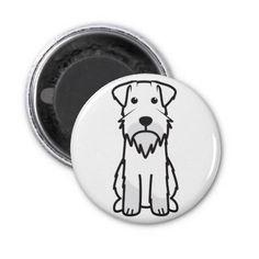Miniature Schnauzer Dog Cartoon Fridge Magnets