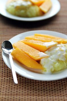 Everybody loves Mango with Sticky Rice (Khao Neow Ma Muang). Here's our popular recipe for coconut milk infused sticky rice topped with slices of delicious ripe mango from Temple of Thai.