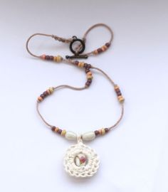 Beaded Pendant Necklace  rose lavender and by BerriesForBella, £16.50