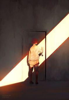 Cuando piensas que nada podría estar peor, observas una puerta a lo lejos. Te acercas, la abres y vez un lugar frío y obscuro y en lo único que piensas es que no saldrás de este lugar. Entonces caminas y al final vez una luz y la sombra de una persona.... de quien?  Solo tu sabes porque esa persona es la que te apoya siempre en buenas y malas y te ama como nadie mas lo haya hecho