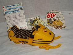 Vintage Ski-Doo 1969 Toy Snowmobile Cereal Premium Order Toy in Toys & Hobbies, Fast Food & Cereal Premiums, Cereal   eBay