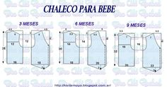 Blog de patronaje y diseño Crochet For Kids, Sewing For Kids, Baby Sewing, Baby Dress Patterns, Kids Patterns, Smocked Baby Dresses, Baby Dress Design, Baby Vest, Baby Makes
