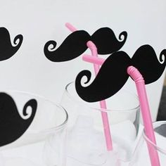 Mustache straws. Haha when you sip from u straw it looks like your wearing a mustache!!!