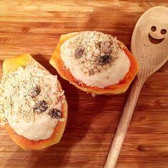 // b r e a k f a s t // Papaya Boats! With soy yogurt (I got Tescos - no added sugar!) and @deliciousalchemy fruity muesli. Yum yum!  #breakfast #whatieat #eatwell #igfood #instafood #intuitiveeating #delicious #foodie #foodpic #fooddiary #healthy #healthyeating #mindfuleating  #fooddiary #foodlover  #eathealthy #fruitaddict #glutenfree #dairyfree #happyspoon #foodporn #foodgasm #foodstagram #plantbased #veggie #veganmeal #vegan #papayaboat #fruitboat Intuitive Eating, Mindful Eating, Muesli, Food Diary, Glutenfree, Yum Yum, Yogurt, Boats, Dairy Free