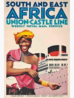 Poster Ads, Advertising Poster, Vintage Advertisements, Vintage Ads, Ec 3, Plakat Design, East Africa, Vintage Travel Posters, Africa Travel