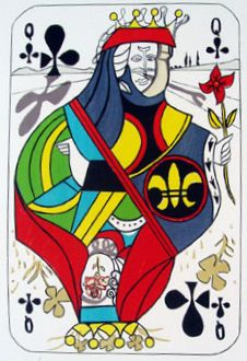 Salvador Dali, Queen of Clubs