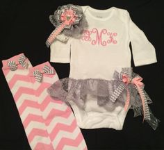 Baby Girl's Leg Warmers Baby Girls Monogramed by PurttyStitches