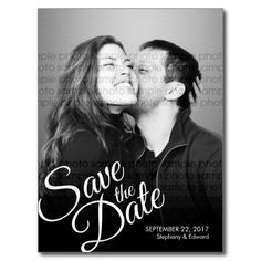 Shop Romantic Script Reminder Save the Date Photo Announcement Postcard created by pinkpinetree. Personalize it with photos & text or purchase as is! Silver Save The Dates, Vintage Save The Dates, Modern Save The Dates, Save The Date Photos, Save The Date Postcards, Save The Date Magnets, Wedding Save The Dates, Photo Postcards, Save The Date Cards