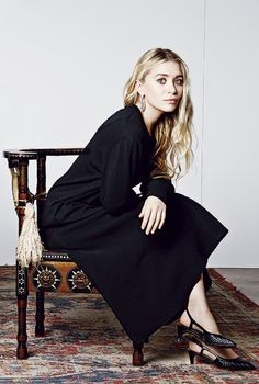 Olsens Anonymous Blog Ashley Olsen Harpers Bazaar September 2014 Black Dress Slingback Heels The Row photo Olsens-Anonymous-Blog-Ashley-Olse...