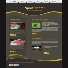 Sport Center is a simple and clean layout using yellow and olive colors. Soccer Photography, Soccer Inspiration, Girl Fashion Style, Sports Graphics, Sports Party, Sports Memes, Sport Quotes, Christmas Gifts For Kids, Sport Motivation