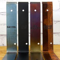 Steel Finish Options | Raw Steel | Matte Black | Heat Blackened | Antiqued & Sealed | Little Anvil