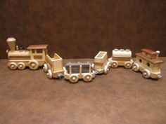 Handmade Wooden Toy Train Set by PlayOnWoods on Etsy, $55.00