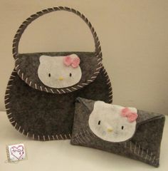 Borsetta e portaspiccioli Kitty in feltro. #FestaMondialeDelGatto #WorldCatDay #Miao #Meow