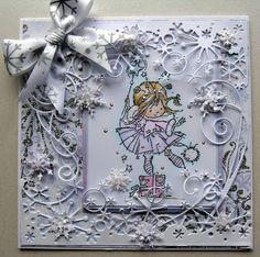 handmade card, nellie snellen stamp, hokey pokey