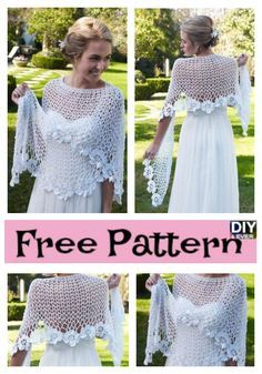 Beauiful Crochet Lace Shawl – Free Patterns #crochet #freepattern