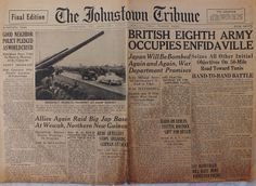 The Johnstown Tribune - World War II: April 21, 1943: BRITISH EIGHTH ARMY OCCUPIES ENFID...