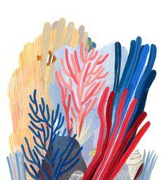 Sea Illustration, Ink Illustrations, Botanical Illustration, Arte Coral, Mural Art, Art Inspo, Illustrators, Concept Art, Art Projects