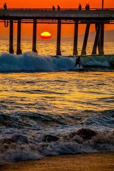 California's beautiful sunset