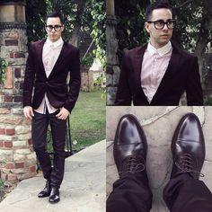 Forever 21 Shirt, H&M Blazer, Hot Topic Jeans, Paul Evans Cap Toe Shoes, Tom Ford Glasses