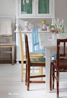 Stühle - Herrlicher Shabby-Chic Stuhl - ein Designerstück von bleuetrose bei DaWanda