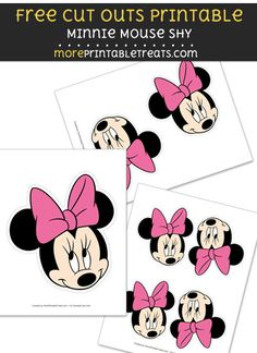 Get this free set of Minnie Mouse shy cut outs that you can print, cut, and use in your projects. The Minnie Mouse shy graphic featured here is of the popular Minnie Mouse's head. Minnie Mouse 1st Birthday, Minnie Mouse Party, Mouse Parties, 1st Birthday Parties, Wall Banner, Minne, Cut Outs, Party Printables, Party Ideas