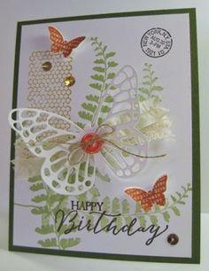Butterfly Birthday Card   Barb Mann