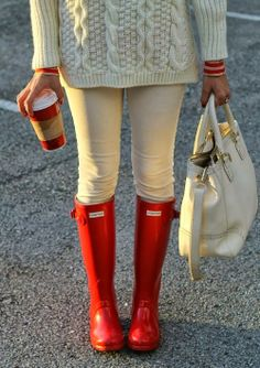 I just got these...Red Hunter Boots...love them