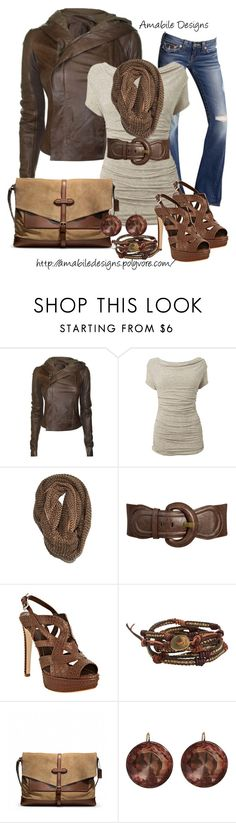 """Weekend casual"" by amabiledesigns ❤ liked on Polyvore featuring Rick Owens, True Religion, Phase Eight, Paula Bianco, Wet Seal, Christian Dior, Chan Luu, Coach, Olivia Collings Antique Jewelry and amabile"